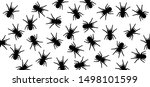 insect spider spiders spin... | Shutterstock .eps vector #1498101599