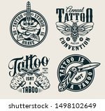 vintage tattoo studio logos... | Shutterstock .eps vector #1498102649