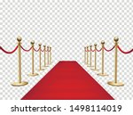 red carpet and golden barriers... | Shutterstock .eps vector #1498114019
