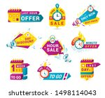 shopping sales countdown... | Shutterstock .eps vector #1498114043