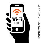 wi fi free icon | Shutterstock .eps vector #149812949