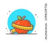 apple diet vector icon...   Shutterstock .eps vector #1498139756