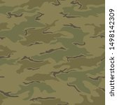 seamless camouflage pattern....   Shutterstock .eps vector #1498142309