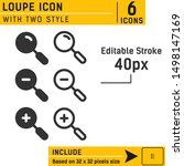 magnifier lens icon vector on...