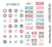 set of stickers for planners... | Shutterstock .eps vector #1498153910