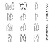 family icon set. father  mother ... | Shutterstock .eps vector #1498157720