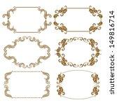 vector set of decorative ornate ... | Shutterstock .eps vector #149816714