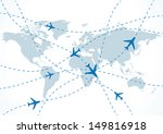 vector world travel map with... | Shutterstock .eps vector #149816918