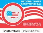 national voter registration day.... | Shutterstock .eps vector #1498184243