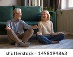 overjoyed active elderly... | Shutterstock . vector #1498194863