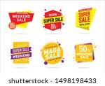 sale offer banner template...   Shutterstock .eps vector #1498198433