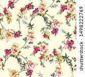 Stock photo floral pattern vintage pattern allover pattern abstract pattern vintage design allover design 1498222769