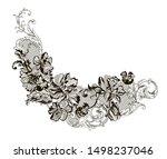 romantic lace flowers... | Shutterstock .eps vector #1498237046