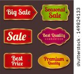 vector set  colorful sale... | Shutterstock .eps vector #149824133
