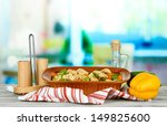 casserole with vegetables and... | Shutterstock . vector #149825600