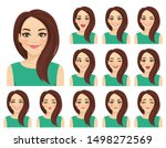 beautiful woman with different... | Shutterstock .eps vector #1498272569