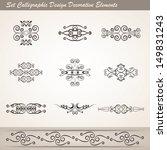 set calligraphic design... | Shutterstock .eps vector #149831243
