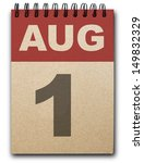1 August Calendar On Recycle...