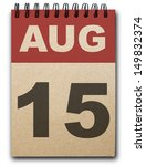 15 August Calendar On Recycle...