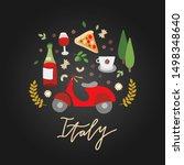 italy symbols illustration... | Shutterstock .eps vector #1498348640