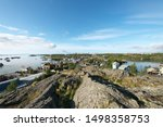 Downtown of Yellowknife viewed from Bush Pilot