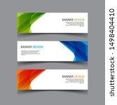vector abstract design banner... | Shutterstock .eps vector #1498404410
