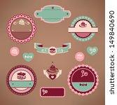 set of vintage bakery labels... | Shutterstock .eps vector #149840690