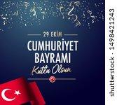 republic day of turkey national ...   Shutterstock .eps vector #1498421243