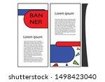 information banner design for... | Shutterstock .eps vector #1498423040
