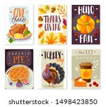 thanksgiving day vertical card... | Shutterstock .eps vector #1498423850