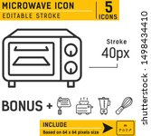 microwave icon vector on...