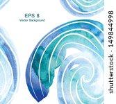 watercolor spiral vector... | Shutterstock .eps vector #149844998