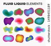 gradient iridescent shapes. set ... | Shutterstock .eps vector #1498451189