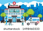 patient care concept. vector of ... | Shutterstock .eps vector #1498460333
