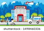 patient care concept. vector of ... | Shutterstock .eps vector #1498460336