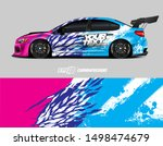 car wrap graphic. abstract... | Shutterstock .eps vector #1498474679
