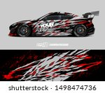 car wrap graphic. abstract... | Shutterstock .eps vector #1498474736