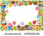 Vector Background With Candy ...