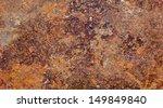 grunge texture of old rusty... | Shutterstock . vector #149849840