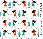 festive seamless pattern.... | Shutterstock .eps vector #1498521773