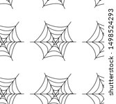 web seamless vector pattern on... | Shutterstock .eps vector #1498524293