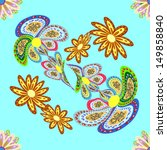 seamless texture on a beautiful ... | Shutterstock .eps vector #149858840