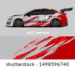 car wrap graphic. abstract... | Shutterstock .eps vector #1498596740