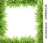 grass frame on white background ... | Shutterstock . vector #149860139