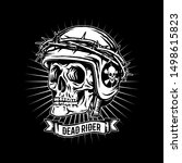 skull in a helmet with a... | Shutterstock .eps vector #1498615823