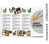 bento sushi set japanese food... | Shutterstock .eps vector #1498634549