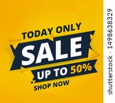 today only sale word concept ... | Shutterstock .eps vector #1498638329