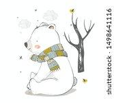 Cute Polar Bear In The Forest....