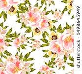 flower print. elegance seamless ... | Shutterstock .eps vector #1498645949