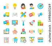 marketing and social network.... | Shutterstock .eps vector #1498665269